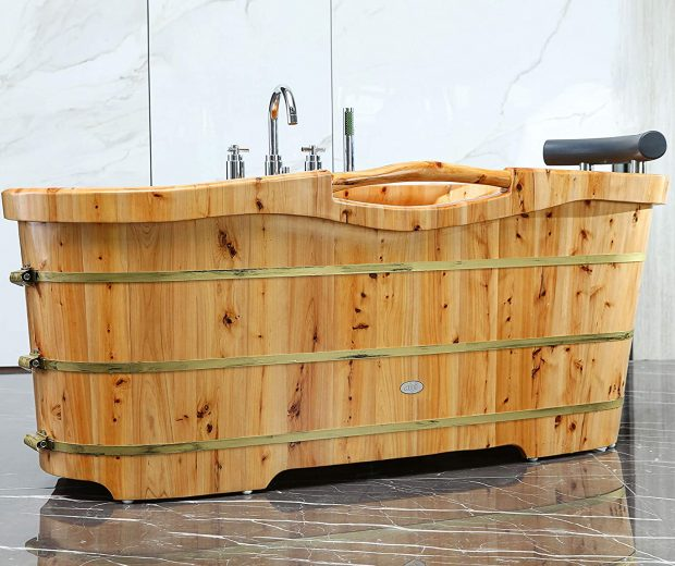 Freestanding Wooden Bathtub